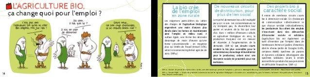 L'AGRICULTURE BIO,                          La bio crée                                              De nouveaux circuits ...