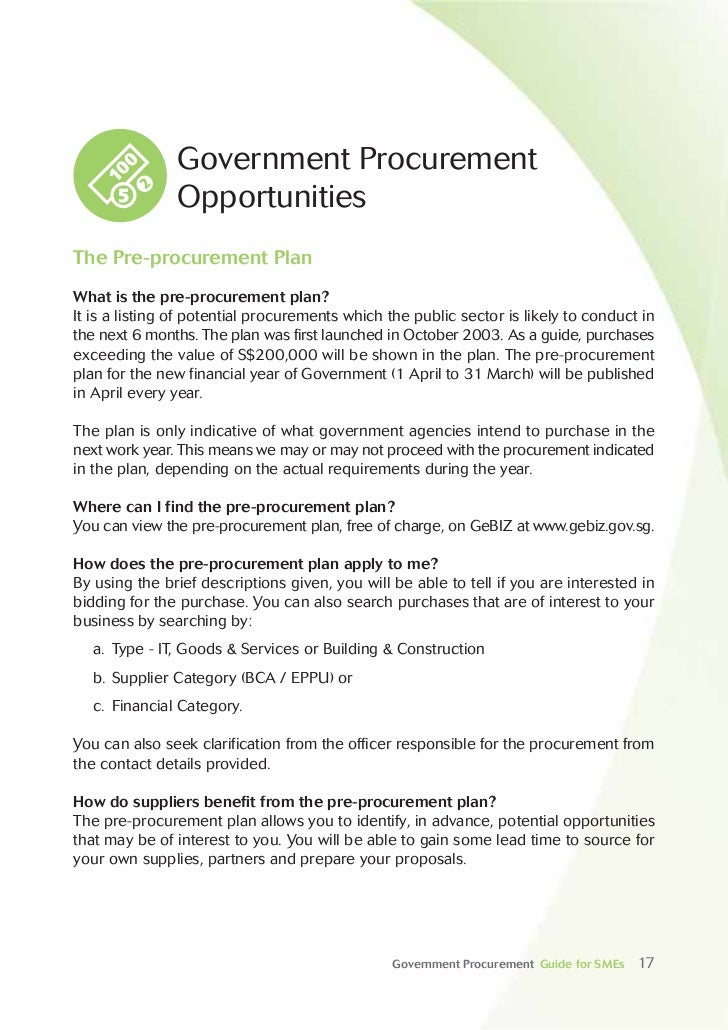 Guidebook Government Procurement Guide For Smes