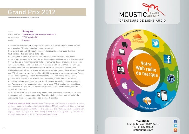 Grand Prix 2012     LE GUIDE DES ACTEURS DU BRAND CONTENT 2012                                                            ...