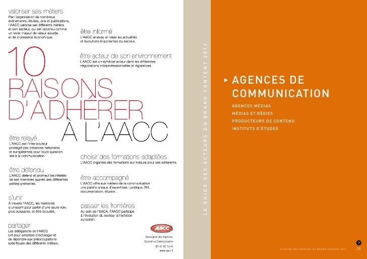 LE GUIDE DES ACTEURS DU BRAND CONTENT 2012                                             AGENCES DE                         ...