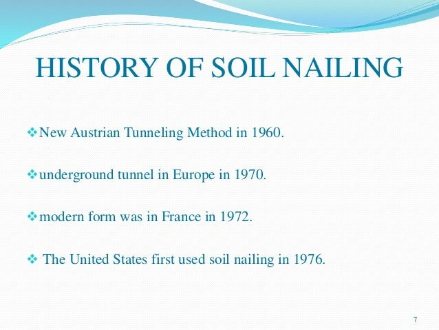 Soil nailing for Origin and formation of soil