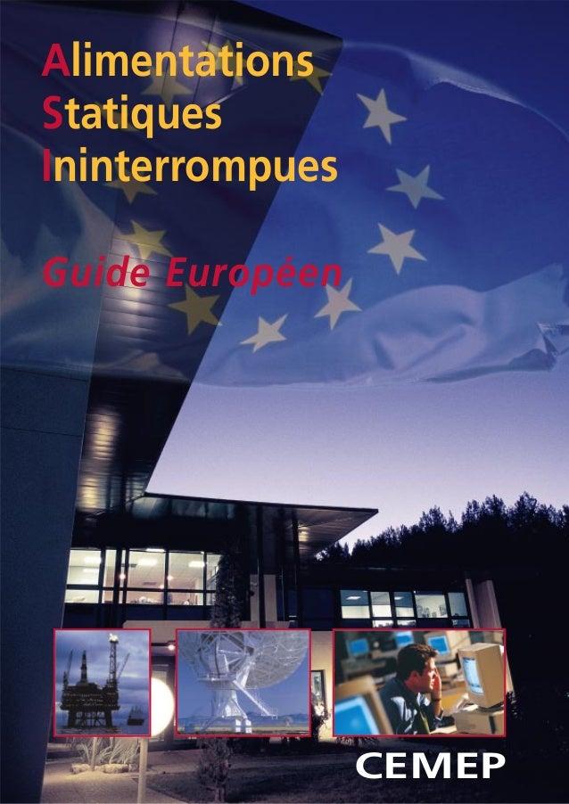 CEMEPAlimentationsStatiquesIninterrompuesGuide Européen