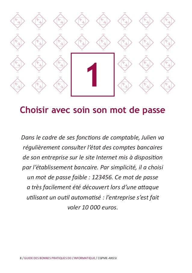 12 / GUIDE DES BONNES PRATIQUES DE L'INFORMATIQUE / CGPME-ANSSI 3 Bien connaître ses utilisateurs et ses prestataires Noém...