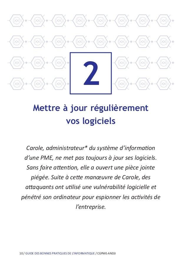 14 / GUIDE DES BONNES PRATIQUES DE L'INFORMATIQUE / CGPME-ANSSI 4 Effectuer des sauvegardes régulières Patrick, commerçant...