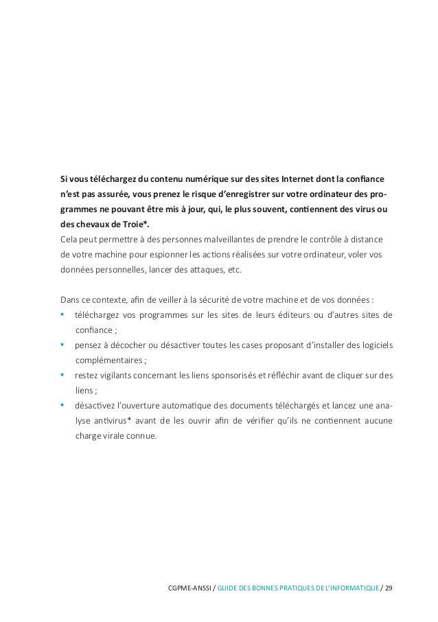 CGPME-ANSSI / GUIDE DES BONNES PRATIQUES DE L'INFORMATIQUE / 35 Les données que vous laissez sur Internet vous échappent i...