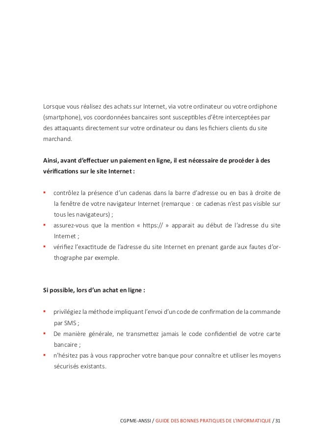 CGPME-ANSSI / GUIDE DES BONNES PRATIQUES DE L'INFORMATIQUE / 37 En cas d'incident Vous n'avez pas eu le temps de mettre en...