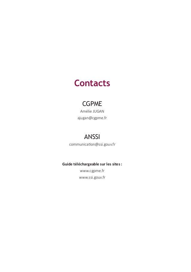 Le guide des bonnes pratiques de l'informatique par la CGPME et l'ANSSI