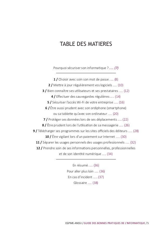 CGPME-ANSSI / GUIDE DES BONNES PRATIQUES DE L'INFORMATIQUE / 9 Le mot de passe est un outil d'authentification utilisé not...