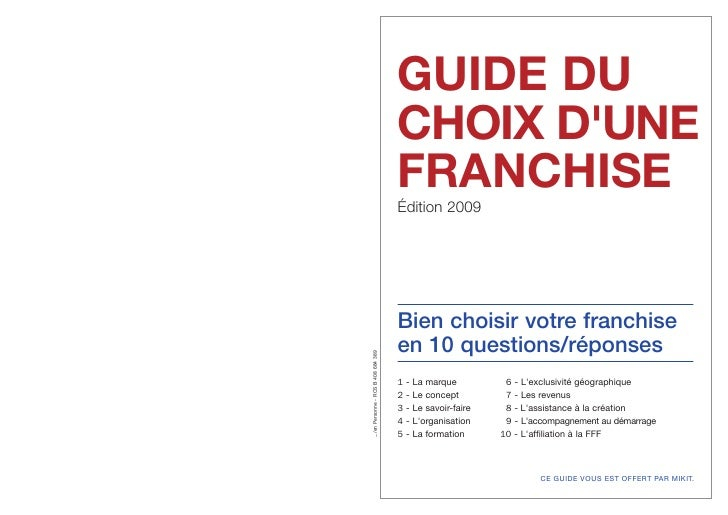 Guide choix franchise