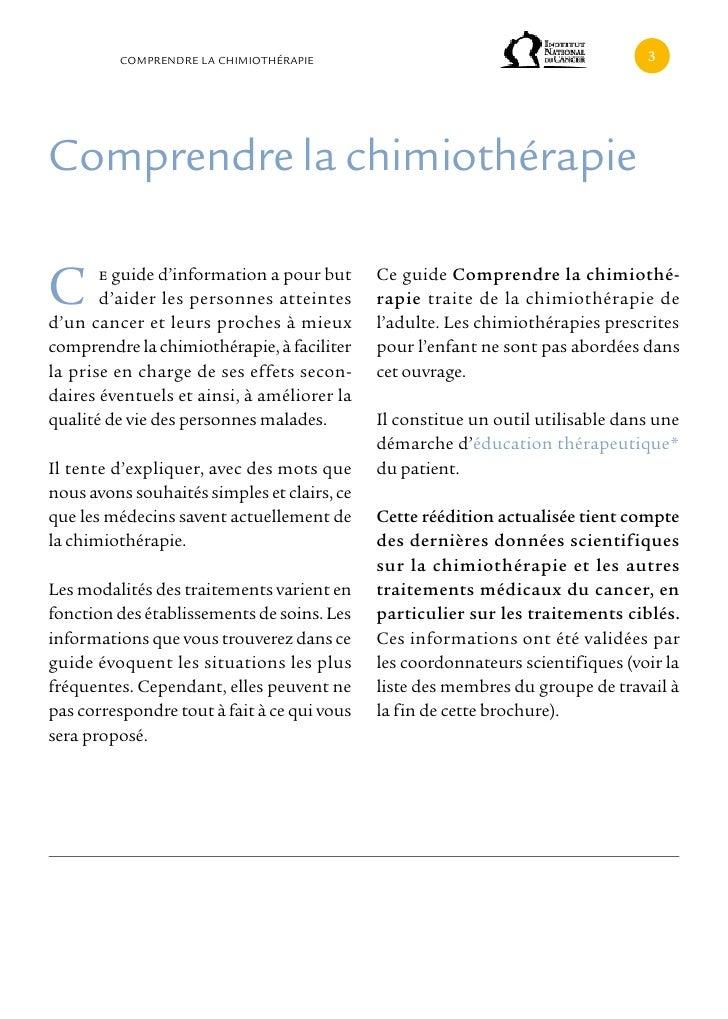 cOMPRENDRE LA cHIMIOTHÉRAPIE                                            comprendre la chimiothérapieC      e guide d'infor...