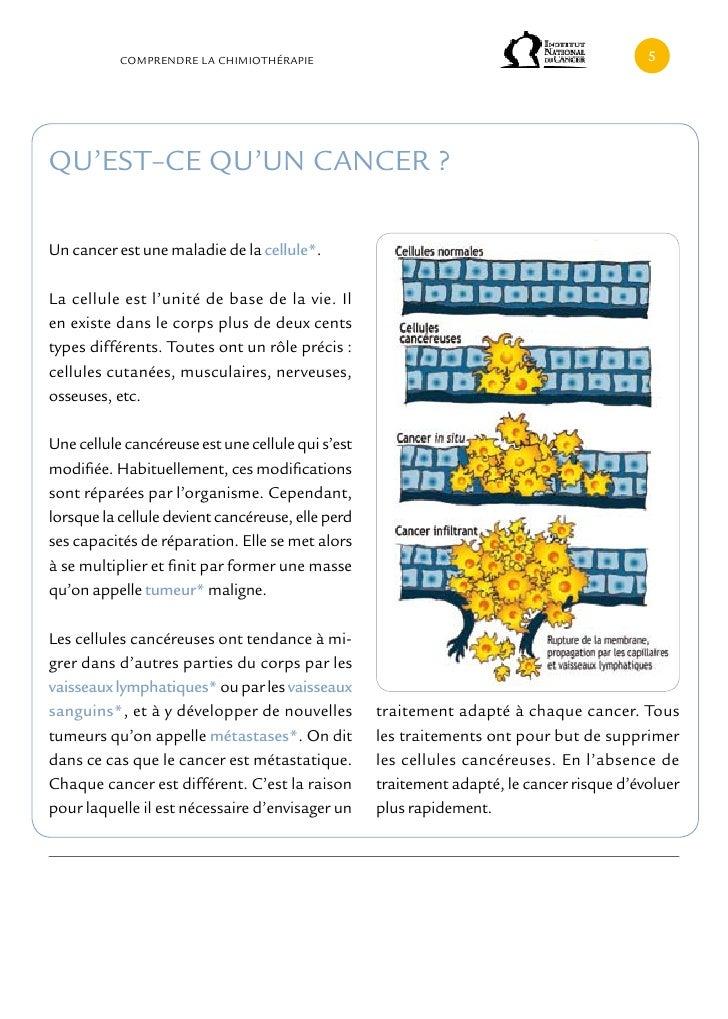 cOMPRENDRE LA cHIMIOTHÉRAPIE                                                    QU'EST–cE QU'UN cANcER ?Un cancer est une ...