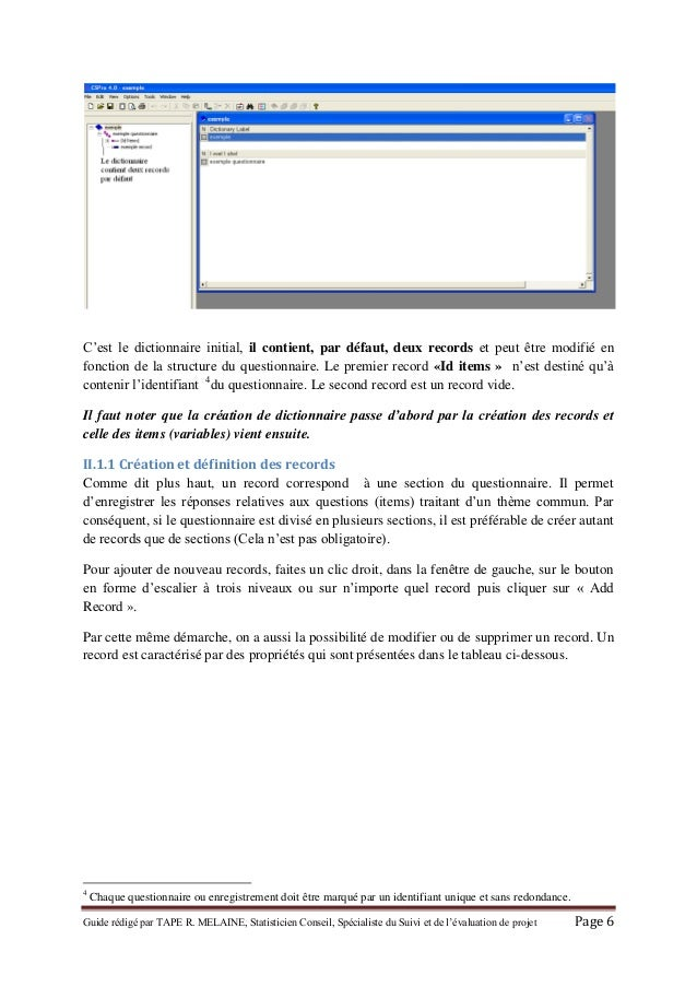 GRATUIT 6.1 GRATUITEMENT CSPRO TÉLÉCHARGER
