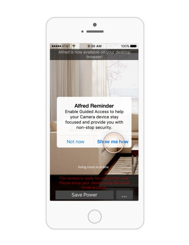iPhone/iPad Guided Access Tutorial for Alfred home security camera app