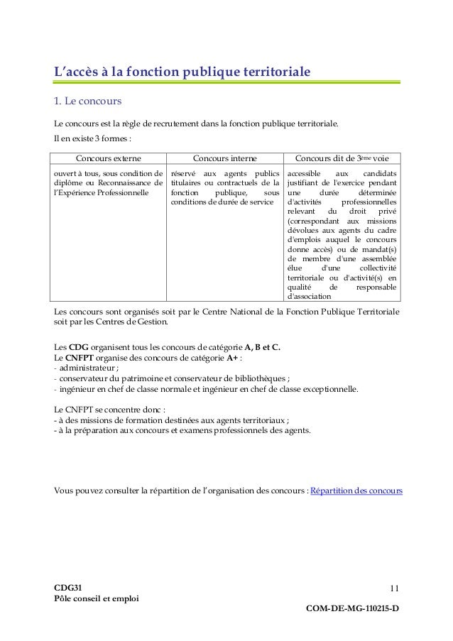 Guide pratique du demandeur d 39 emploi fonction publique - Grille indiciaire agent de maitrise territorial ...