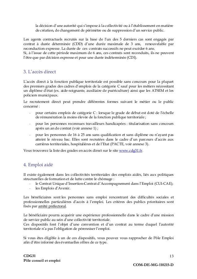 Guide Pratique Du Demandeur D Emploi Fonction Publique