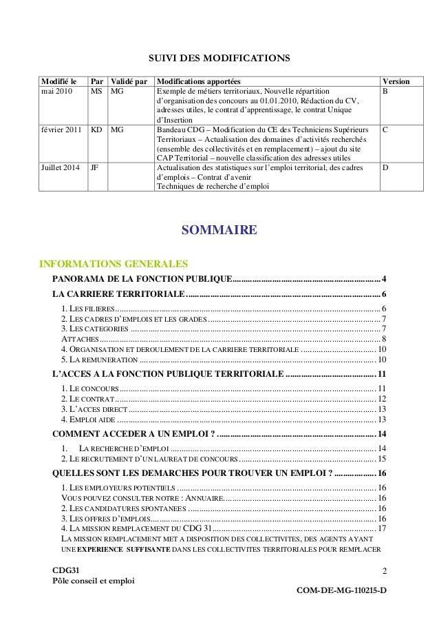 guide pratique du demandeur d u0026 39 emploi  fonction publique