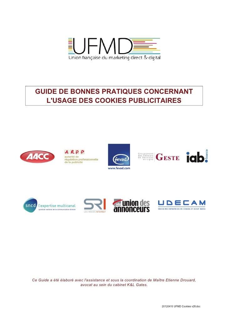 GUIDE DE BONNES PRATIQUES CONCERNANT    LUSAGE DES COOKIES PUBLICITAIRES                                                 ...