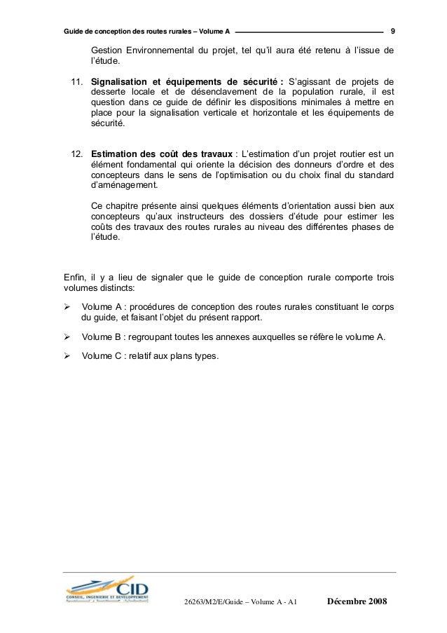 Guide De Conception Des Routes Version Finale