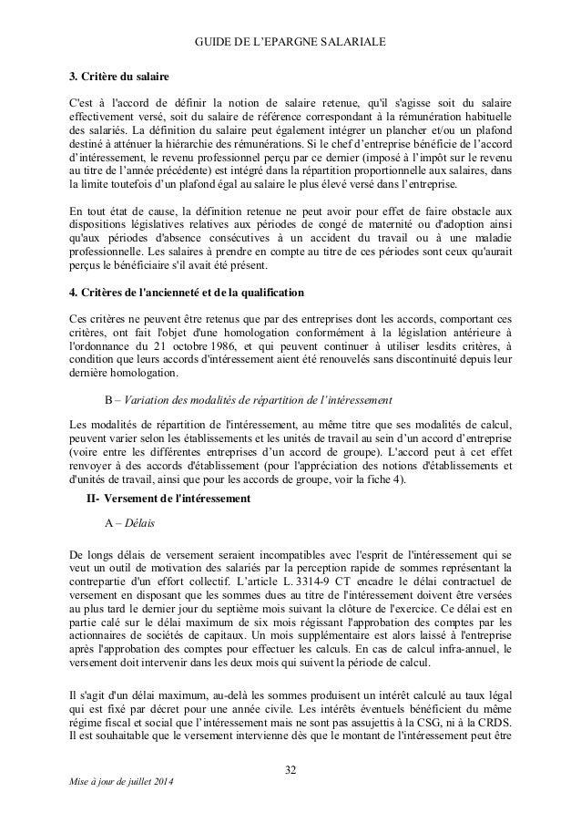Guide de l 39 epargne salariale - Plafond revenu fiscal de reference 2014 ...