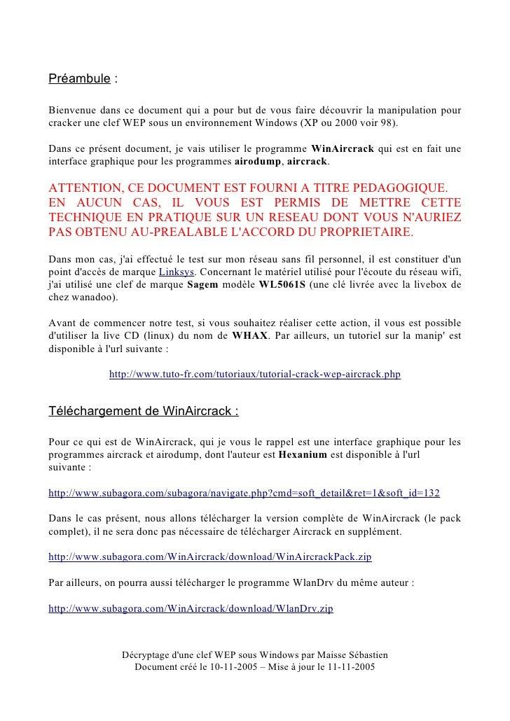 WINAIRCRACK DE HEXANIUM GRATUIT TÉLÉCHARGER