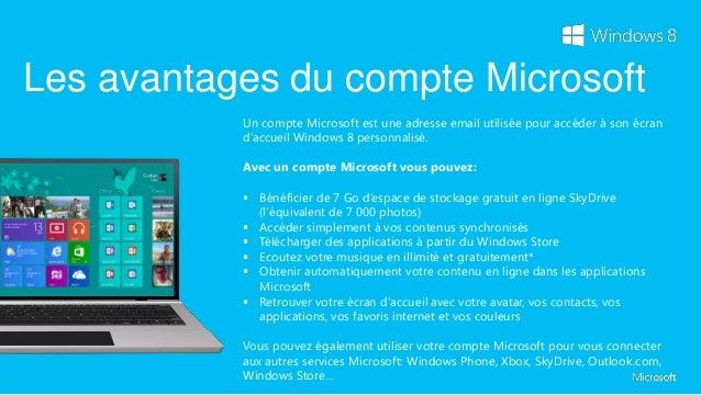 Ajouter un compte Microsoft                  1. Faites apparaître la barre d'icônes à droite de votre écran               ...