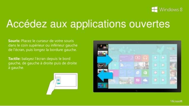Les raccourcis clavierReprenant les bases de Windows 7, Windows 8 bénéficie de raccourcis, auxquels sont intégrées descomm...
