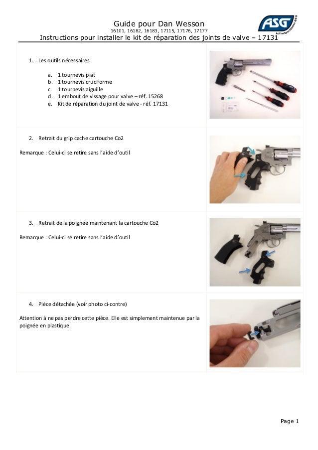 Guide pour Dan Wesson                                        16101, 16182, 16183, 17115, 17176, 17177         Instructions...