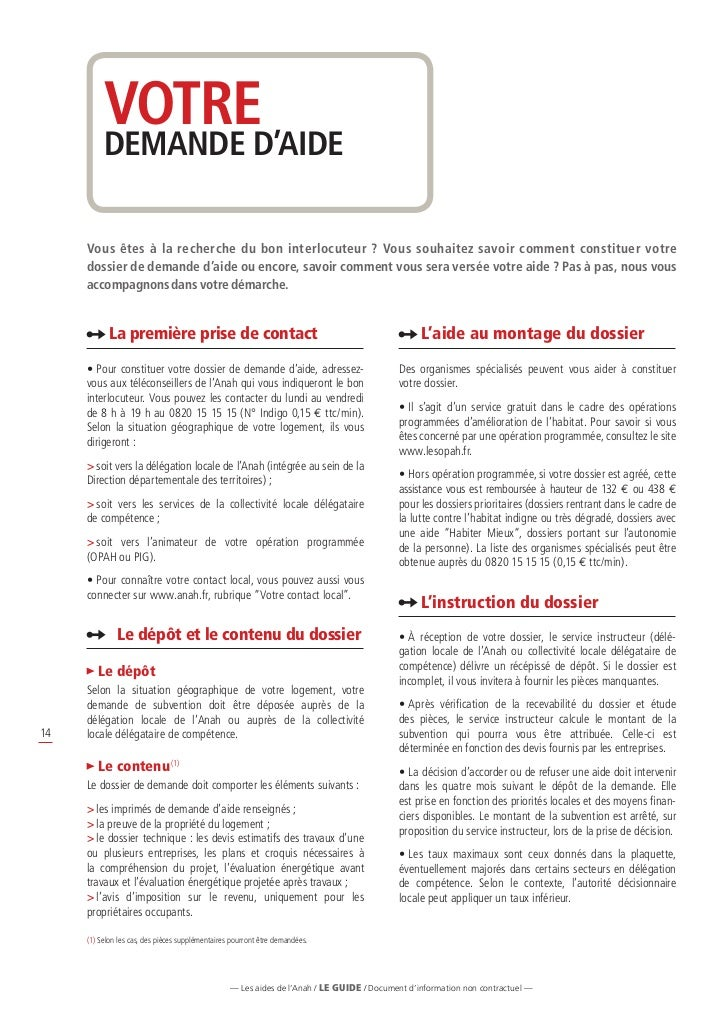 guide des aides de l agence nationale de l habitat anah avril 2012. Black Bedroom Furniture Sets. Home Design Ideas