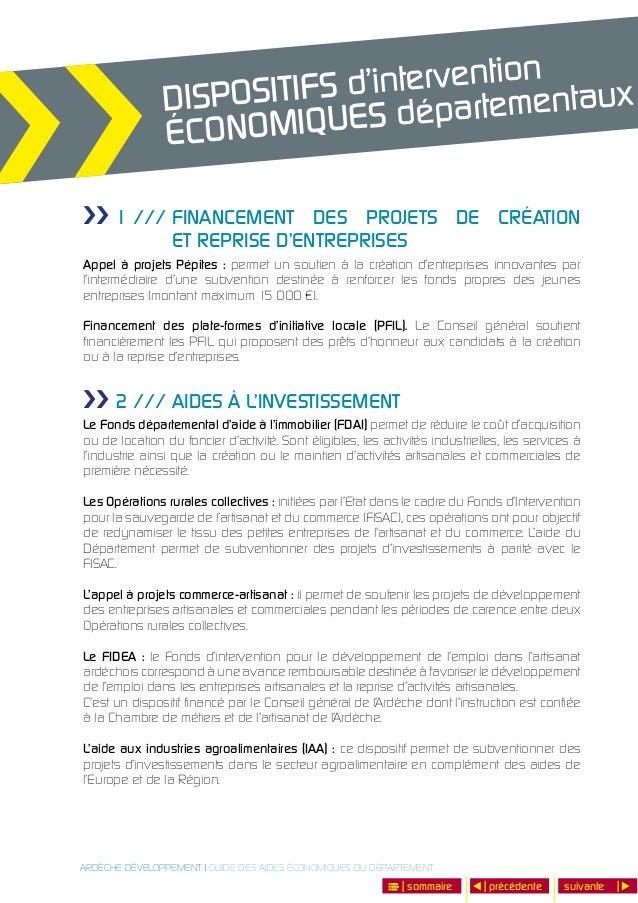 Guide Des Aides Economiques Du Departement De L Ardeche