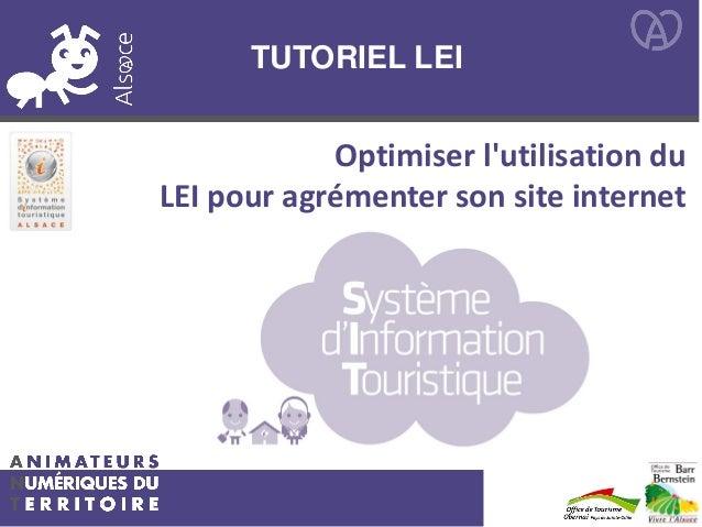 TUTORIEL LEI Optimiser l'utilisation du LEI pour agrémenter son site internet
