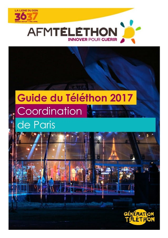 Guide du Téléthon 2017 Coordination de Paris