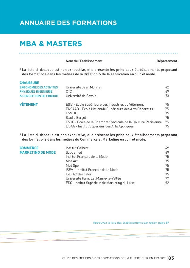 Le guide des metiers du cuir - Ecole national superieur des arts decoratifs ...