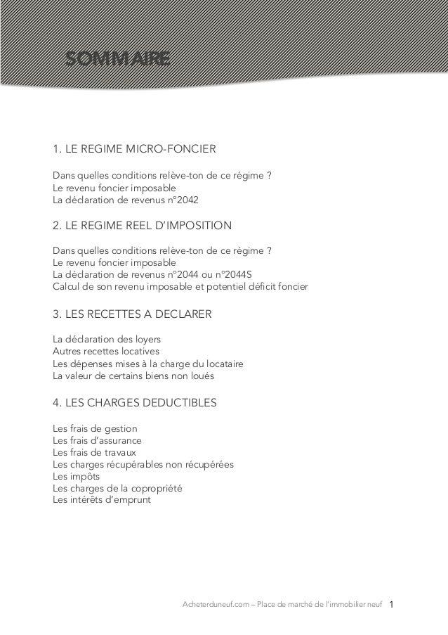 Guide Des Revenus Fonciers Par Acheterduneuf