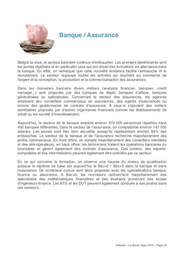 Salaires tes vous bien pay le guide qapa 2015 - Grille de salaire secteur bancaire tunisie ...