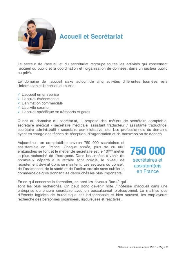 Salaires tes vous bien pay le guide qapa 2015 - Grille indiciaire secretaire medicale ...