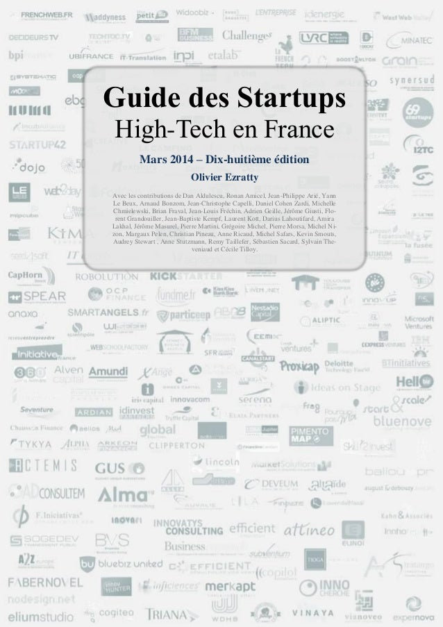 Guide des startups hightech en france olivier ezratty mars 2014