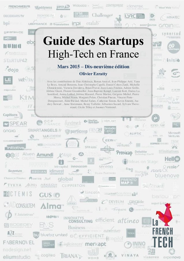 Guide des startups hightech en France Olivier Ezratty mars