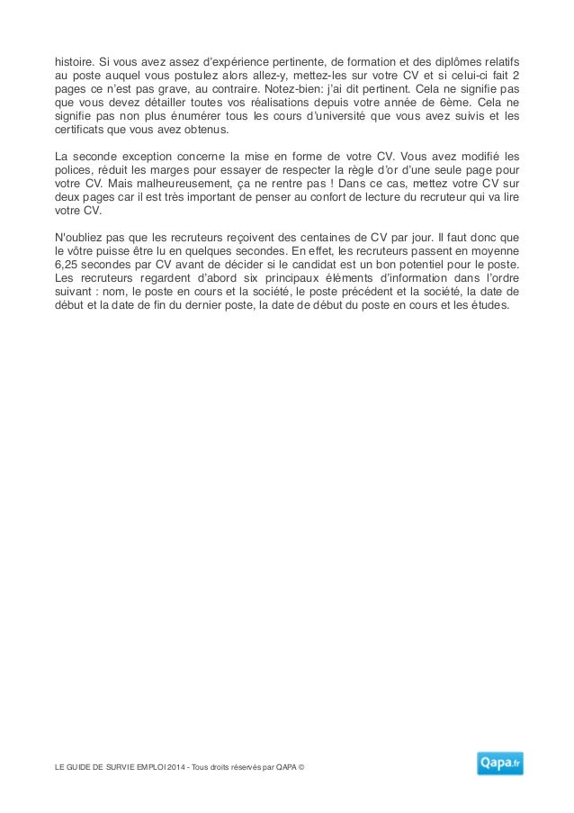 le guide de survie pour l u0026 39 emploi 2014
