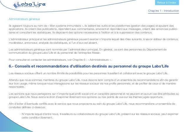 Chapitre 1 - Introduction  · Ne pas utiliser le courrier électronique de l'entreprise pour enregistrer des comptes person...