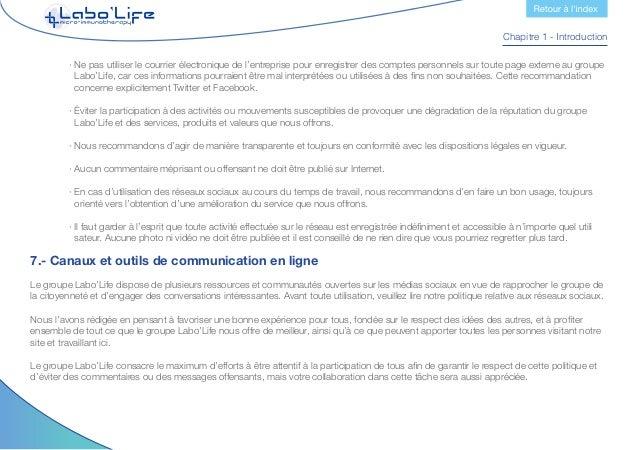 Chapitre 1 - Introduction Il est important de rappeler que toutes les informations contenues sur nos espaces numériques n'...