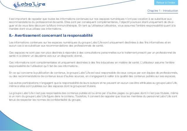 Chapitre 2 - Utilisation des langues Le groupe Labo'Life se réserve le droit de supprimer les contenus ne répondant pas au...