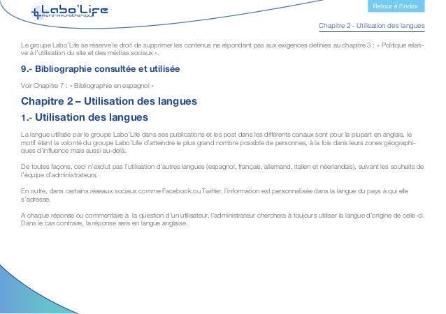 Chapitre 3 - Politique relative à l'utilisation du site et des médias sociaux Chapitre 3 - Politique relative à l'utilisat...