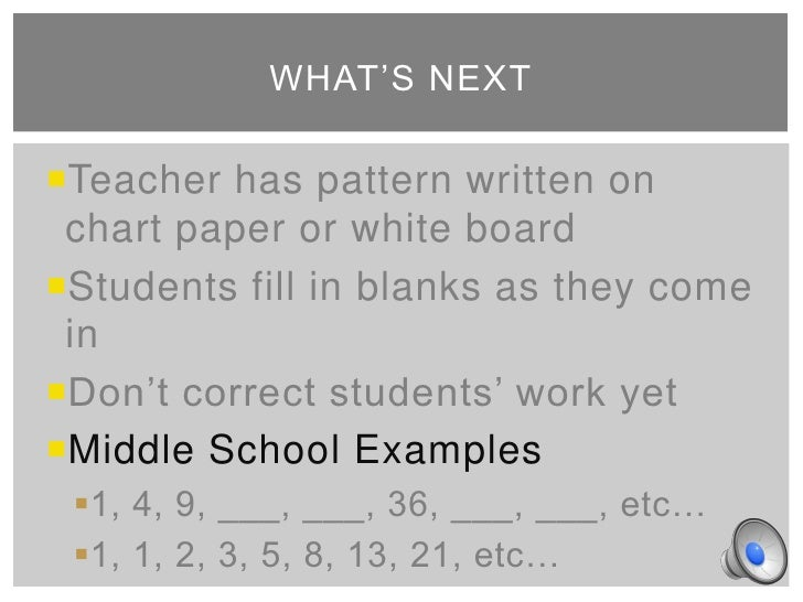 Math Patterns Middle School - follow the rules number patterns ...