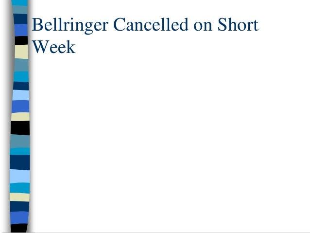 Bellringer Cancelled on Short Week