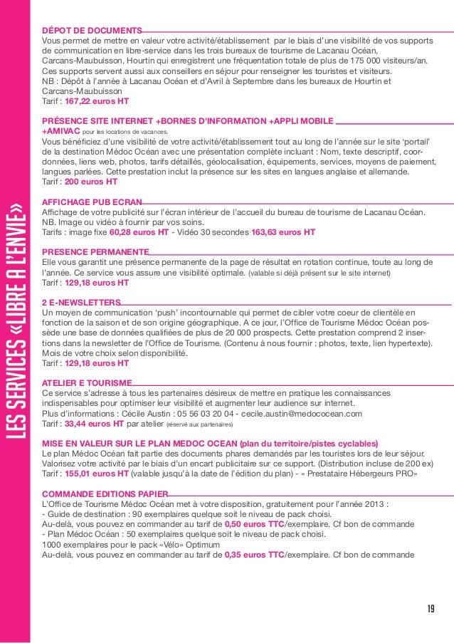 Guide du partenariat medoc oc an - Carcans maubuisson office de tourisme ...