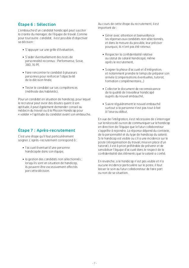 Agefiph guide du recruteur 2014 - Grille evaluation entretien d embauche ...