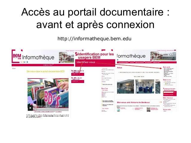 Guide d'utilisation du portail documentaire BEM 2013-03 Slide 2