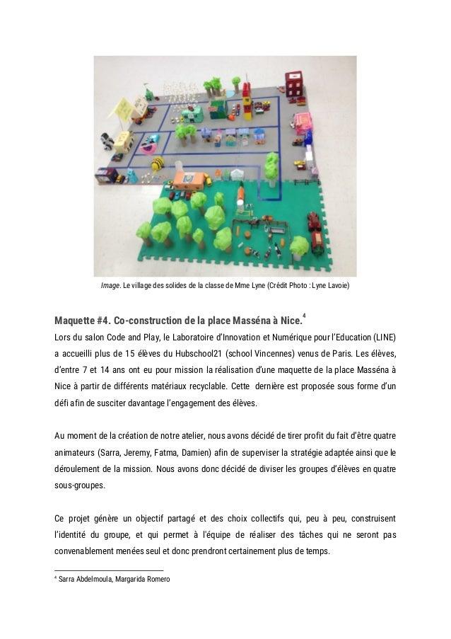 Image. Le village des solides de la classe de Mme Lyne (Crédit Photo : Lyne Lavoie)  Maquette #4. Co-construction ...