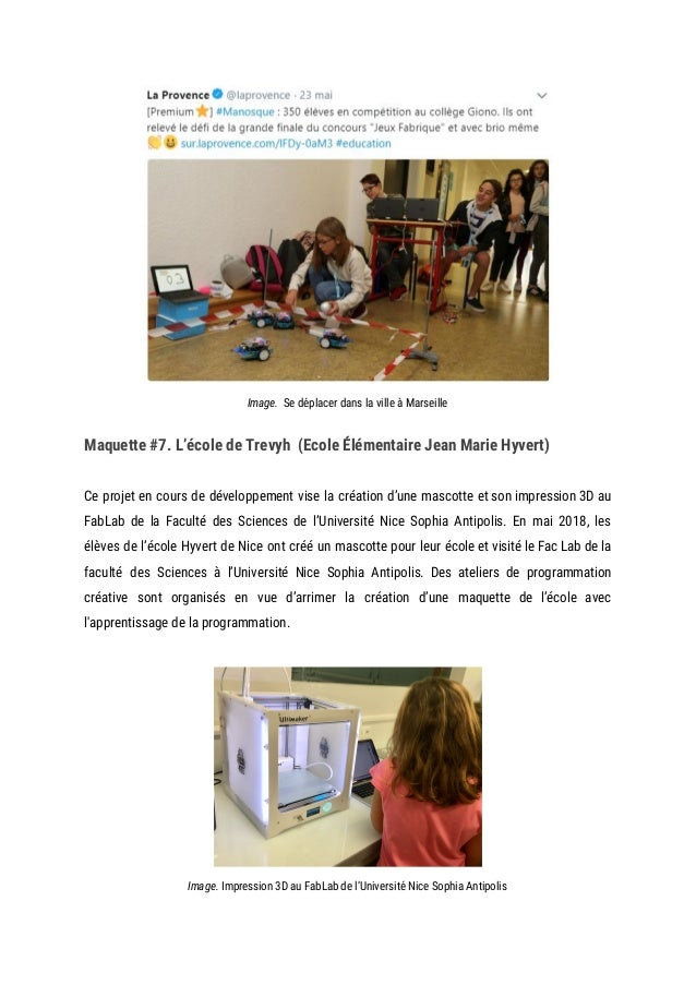 Image. Se déplacer dans la ville à Marseille Maquette #7. L'école de Trevyh (Ecole Élémentaire Jean Marie Hyvert) ...