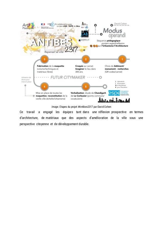 Image. Etapes du projet #Antibes2317 par David Cohen Ce travail a engagé les équipes tant dans une réflexion prospe...